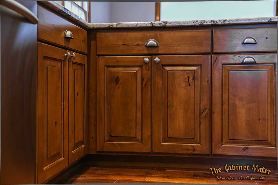 A Large Country Kitchen With Knotty Alder Cabinets Cabinets Have The Look Of photo - 8