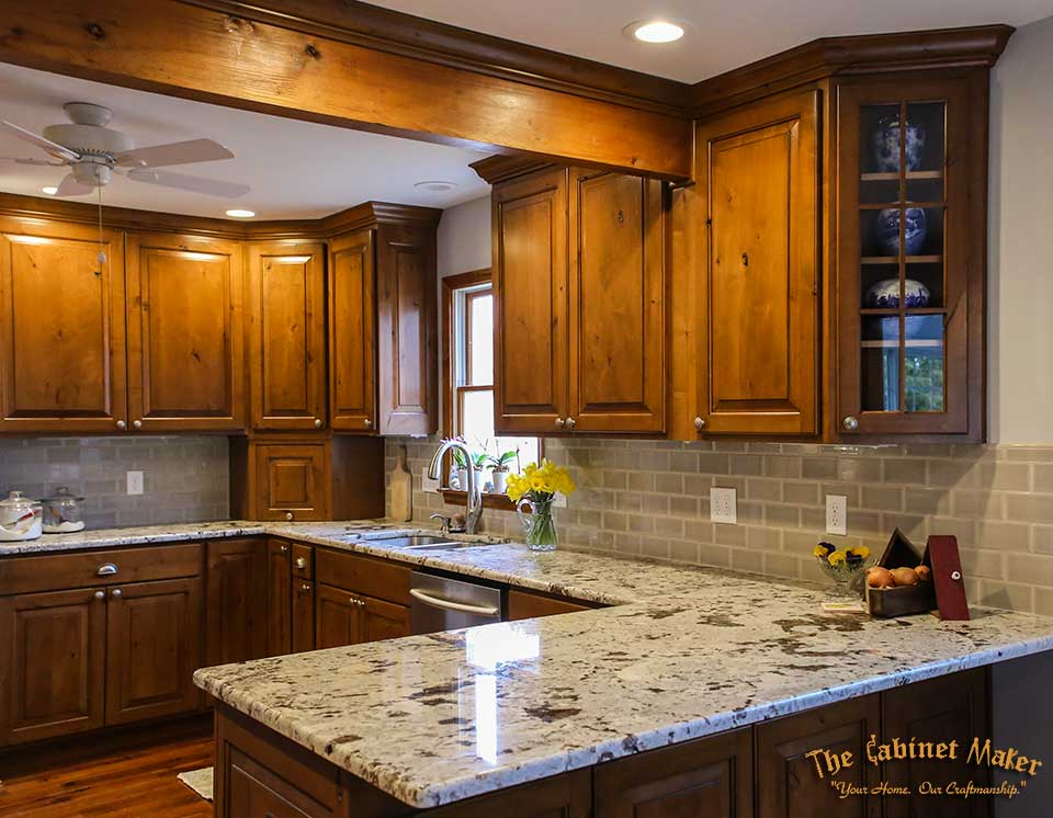 kitchen cabinet makers. Dublin Knotty Alder Kitchen with glaze finish  The Ohio Cabinet Maker